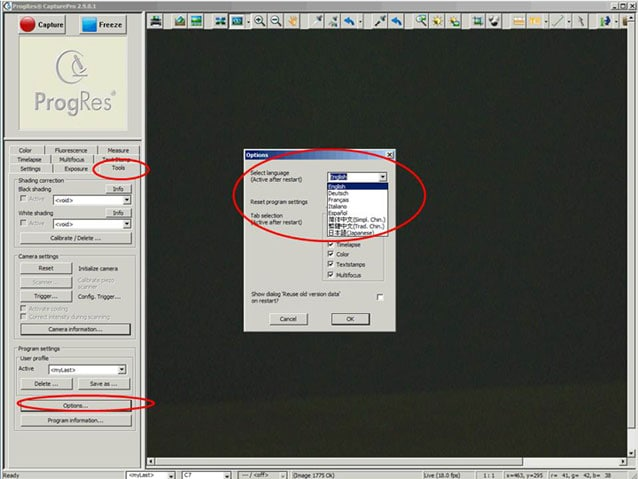 Faq zur progres capturepro software jenoptik